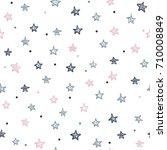 star seamless pattern   Shutterstock .eps vector #710008849
