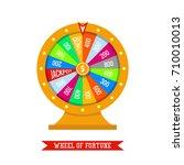 wheel of fortune in flat vector ... | Shutterstock .eps vector #710010013