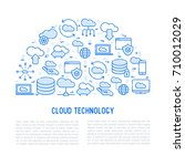 cloud computing technology... | Shutterstock .eps vector #710012029