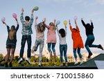birthday party celebration....   Shutterstock . vector #710015860