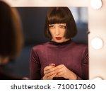 lack of self esteem. confused...   Shutterstock . vector #710017060