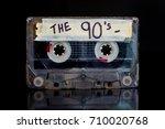 the nineties mixed tape. 90's...   Shutterstock . vector #710020768
