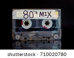 80's mixed tape. eighties... | Shutterstock . vector #710020780