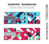 simple geometric backgrounds... | Shutterstock .eps vector #710021188
