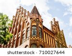 facade of a historical house in ... | Shutterstock . vector #710027644