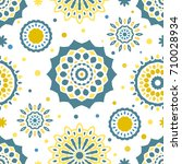 seamless tiling vector texture... | Shutterstock .eps vector #710028934
