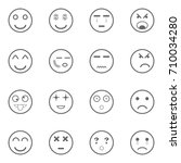 different emotions icons set ... | Shutterstock .eps vector #710034280