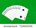 Cards showing just suit spades - stock photo