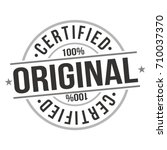 certified original stamp design ... | Shutterstock .eps vector #710037370