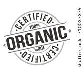 certified organic stamp design... | Shutterstock .eps vector #710037379