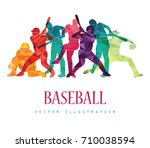 color sport background.... | Shutterstock .eps vector #710038594