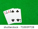 4 of a kind playing cards Fours - stock photo