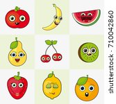 cute fruits | Shutterstock .eps vector #710042860