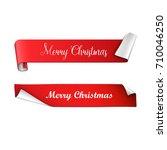 christmas banners. vector... | Shutterstock .eps vector #710046250