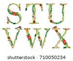 cute vintage hand drawn rustic... | Shutterstock .eps vector #710050234