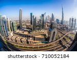 cityscape of dubai with modern... | Shutterstock . vector #710052184