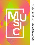 poster electronic music. color... | Shutterstock .eps vector #710052448