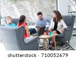photo young businessmans crew... | Shutterstock . vector #710052679
