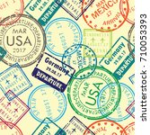 international business travel... | Shutterstock .eps vector #710053393