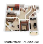 3d illustration of apartment   Shutterstock . vector #710055250