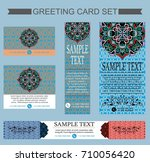 set of greeting cards design... | Shutterstock .eps vector #710056420