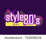 memphis style banner. design... | Shutterstock .eps vector #710058226