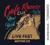 new york cafe racers club.... | Shutterstock .eps vector #710060053