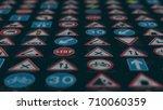 3d render. too many traffic... | Shutterstock . vector #710060359