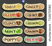 vector set of labels for... | Shutterstock .eps vector #710070580