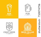 set of beer and alcohol  hop ...   Shutterstock .eps vector #710074756