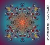 rystal snowflake in colors on ... | Shutterstock .eps vector #710076364