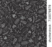 vector hand drawn pattern with... | Shutterstock .eps vector #710078878