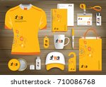 network sport gift items  color ... | Shutterstock .eps vector #710086768