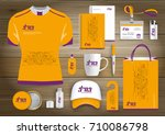 network sport gift items  color ... | Shutterstock .eps vector #710086798