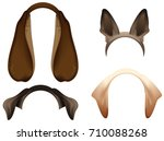 set dog ears mask isolated on... | Shutterstock .eps vector #710088268
