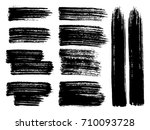 painted grunge stripes set.... | Shutterstock .eps vector #710093728
