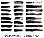painted grunge stripes set.... | Shutterstock .eps vector #710093764