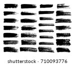 painted grunge stripes set.... | Shutterstock .eps vector #710093776