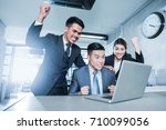 young asian businessmen... | Shutterstock . vector #710099056