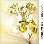 bright yellow branch of vibrant ... | Shutterstock .eps vector #71009914