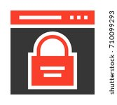 browser security  | Shutterstock .eps vector #710099293