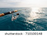 fisherman fishing rod on the... | Shutterstock . vector #710100148