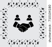 handshake vector icon   Shutterstock .eps vector #710104180