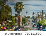 oakwood avenue in los angeles ... | Shutterstock . vector #710111530