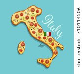 vector illustration of pizza... | Shutterstock .eps vector #710114506