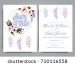 wedding invitation card suite... | Shutterstock .eps vector #710116558