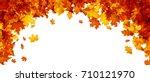 autumn banner with golden maple ... | Shutterstock .eps vector #710121970