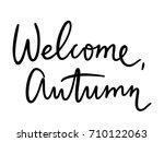 set of handwritten autumn... | Shutterstock .eps vector #710122063