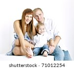portrait of parents with their... | Shutterstock . vector #71012254