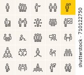people icons  business people... | Shutterstock .eps vector #710122750